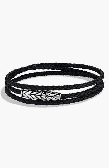 Men's David Yurman 'Chevron' Triple-Wrap Bracelet