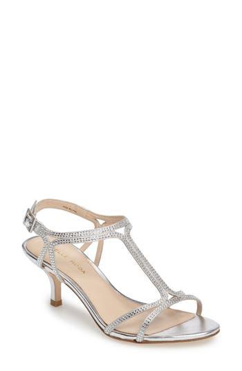 Pelle Moda Abbie 2 T-Strap Sandal- Metallic