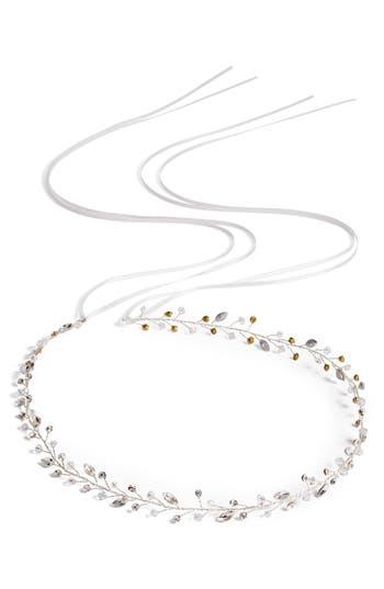Brides & Hairpins Lucina Crystal Halo & Sash, Size One Size - Metallic