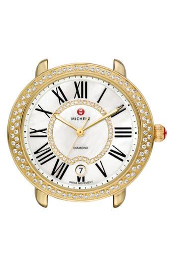 Women's Michele Serein 16 Diamond Gold Plated Watch Case, 34Mm X 36Mm