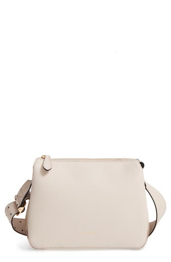 Burberry Helmsley House Check Leather Crossbody Bag - White