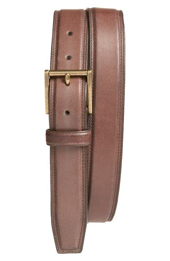 Cole Haan Leather Belt, Chestnut