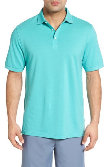 Men's Peter Millar Crown Polo, Size Small - Green