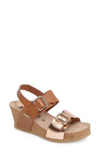 Mephisto Lissandra Platform Wedge Sandal, Brown