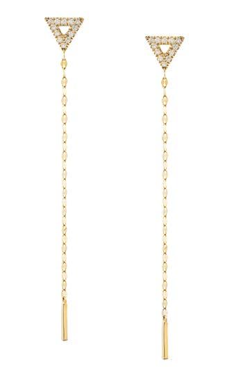 Women's Lana Jewelry Flawless Diamond Triangle Duster Earrings