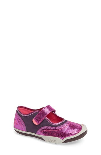 Girl's Plae 'Emme' Mary Jane, Size 3 M - Purple