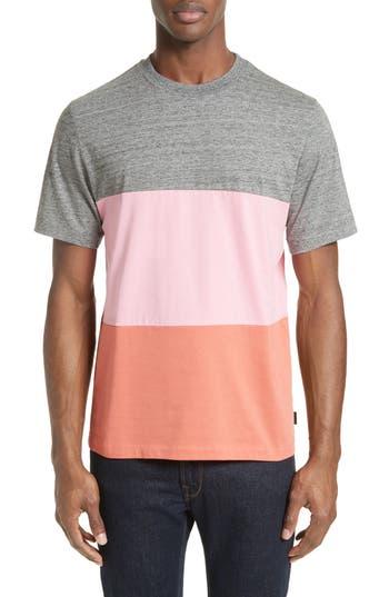 Men's Ps Paul Smith Bold Stripe T-Shirt, Size Medium - Grey