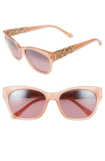 Maui Jim Monstera Leaf 57Mm Polarized Sunglasses - Guava Pink