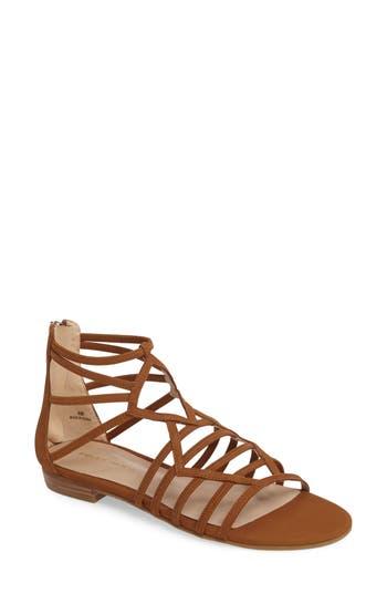 Pelle Moda Brazil Strappy Sandal, Brown
