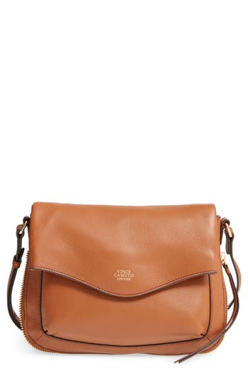 Vince Camuto Dafni Leather Crossbody - Brown