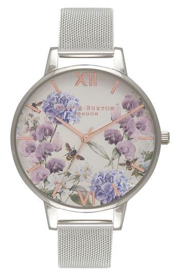 Women's Olivia Burton Parlour Mesh Strap Watch, 38Mm