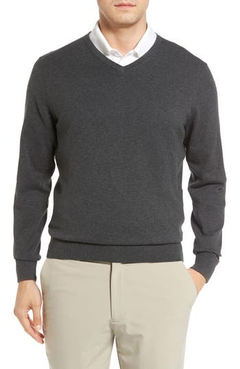 Cutter & Buck Lakemont V-Neck Sweater, Grey