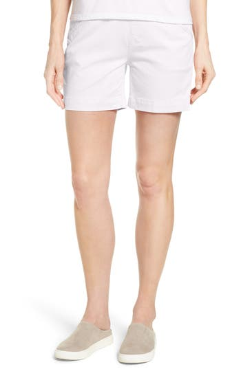 Ainsley Pull-On Stretch Twill Shorts