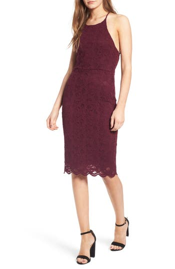 Women's Soprano Lace Body-Con Dress, Size X-Small - Purple