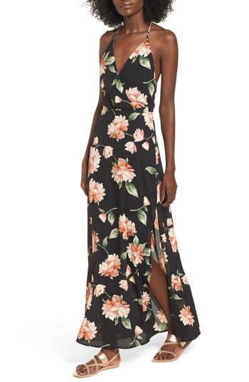 60s Wedding Dresses | 70s Wedding Dresses Womens Surplice Maxi Dress $24.90 AT vintagedancer.com