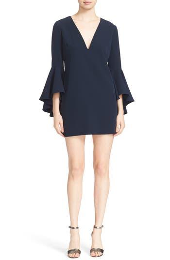 Women's Milly Nicole Bell Sleeve Dress, Size 0 - Blue