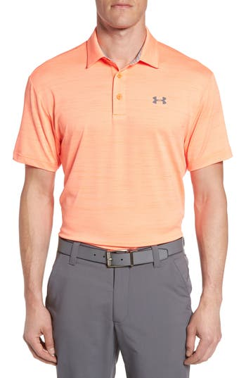 Men's Under Armour 'Playoff' Loose Fit Short Sleeve Polo, Size Large - Orange