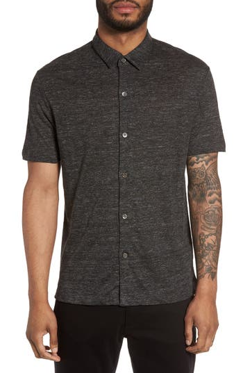 Men's Theory Linen Knit Sport Shirt