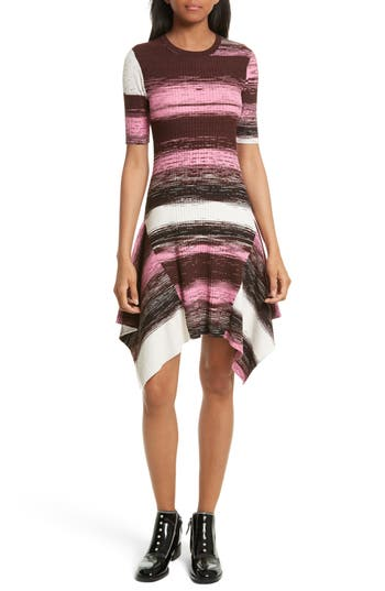 Opening Ceremony Delta Rib Knit Dress, Pink