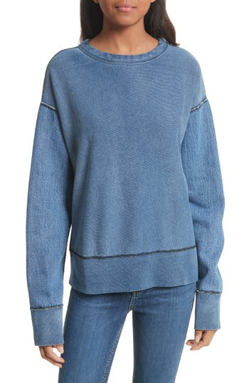 Women's Rag & Bone Indigo Baby Racer Sweatshirt