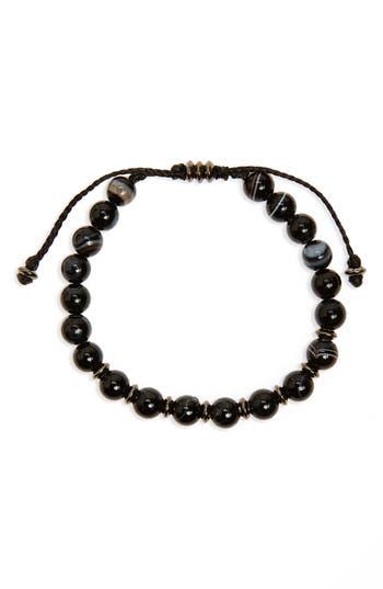 Men's Link Up Agate Bead Bracelet