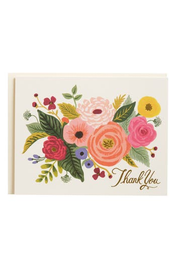Rifle Paper Co. Juliet Rose Set Of 8 Note Cards -