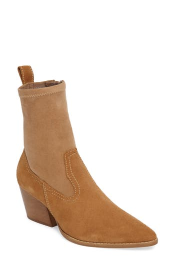 Matisse Flash Stretch Shaft Bootie- Beige
