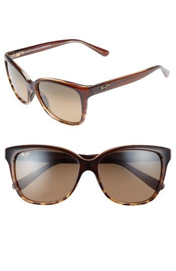 Maui Jim Starfish 5m Polarized Cat Eye Sunglasses - Clear Chocolate/ Tortoise