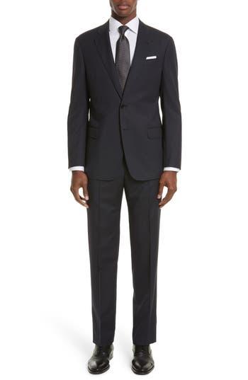 Men's Armani Collezioni Trim Fit Stripe Wool Suit