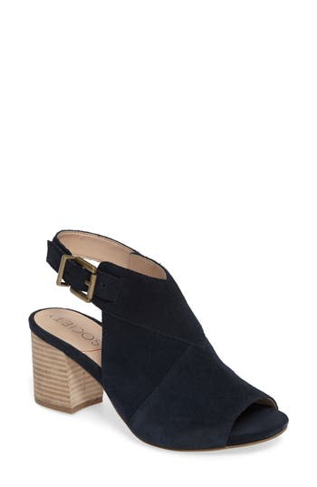 Sole Society Zuma Peep Toe Bootie, Blue