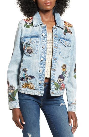 Women's Blanknyc Embroidered Denim Jacket
