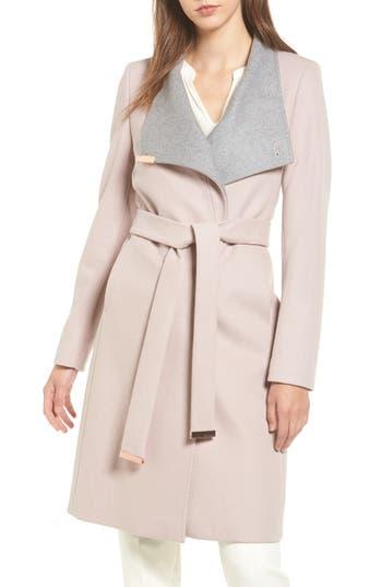 Women's Ted Baker London Wool Blend Long Wrap Coat