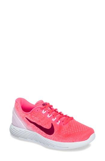 Women's Nike Lunarglide 9 Running Shoe, Size 5.5 M - Pink