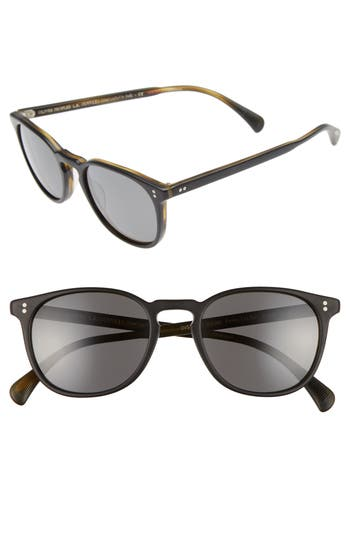Men's Oliver Peoples Finley 51Mm Retro Polarized Sunglasses - Black