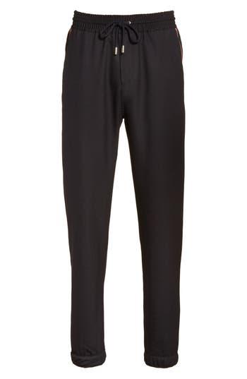 Men's Givenchy Star Grosgain Wool Pants