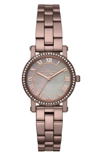 Women's Michael Michael Kors Petite Norie Pavé Bracelet Watch, 28Mm