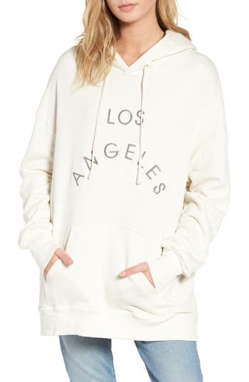 Women's Wildfox Los Angeles Oversize Hoodie, Size Small - Ivory