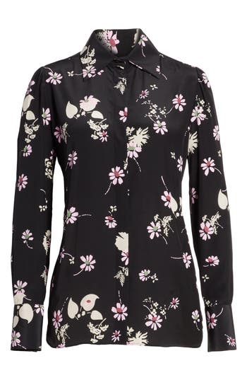 Women's Valentino Flowers Fall Silk Shirt