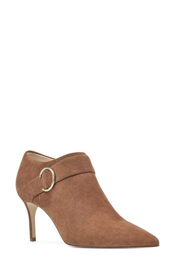 Nine West Megaera Pointy Toe Bootie- Brown