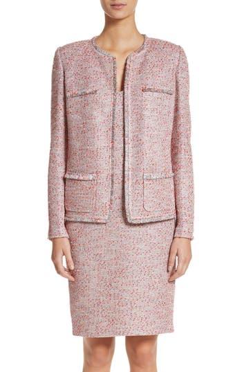 Women's St. John Collection Metallic Tweed Jacket