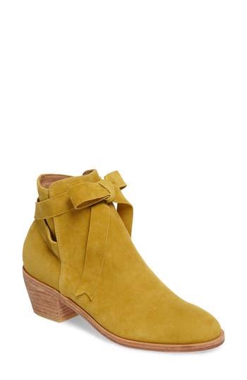 Huma Blanco Loretana Ankle Tie Bootie, Yellow