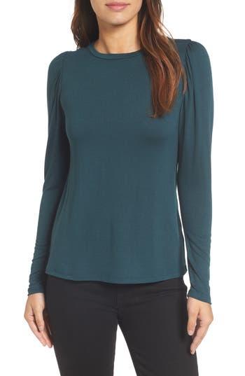 Women's Bobeau Bishop Knit Top, Size X-Small - Grey