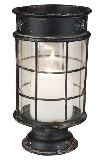 Foreside Hampton Pillar Candle Holder, Black
