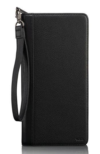 Tumi Leather Zip Wallet - Black