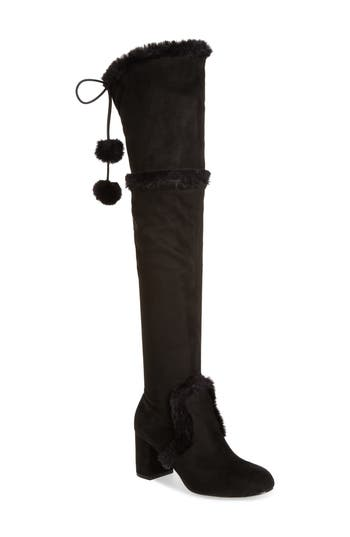 Charles By Charles David Odom Over The Knee Boot, Black