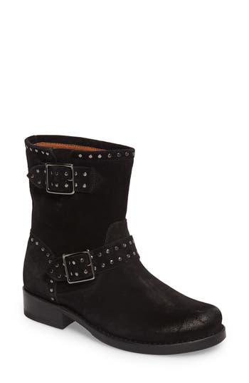 Women's Frye Vicky Stud Engineer Boot, Size 5.5 M - Black