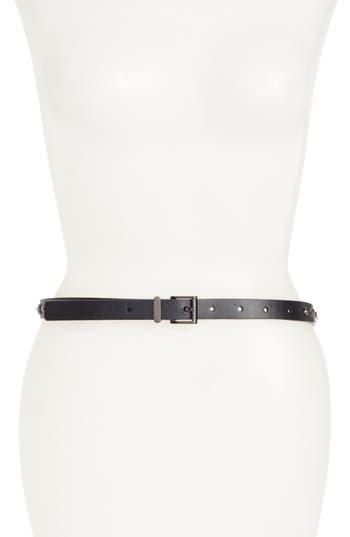 Women's Halogen Embellished Skinny Leather Belt