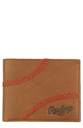 Rawlings Home Run Bifold Leather Wallet - Brown