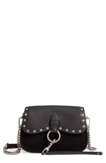 Rebecca Minkoff Small Keith Suede & Leather Saddle Bag -