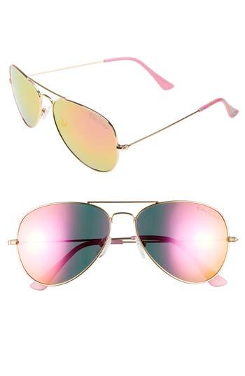 Lilly Pulitzer Lexy 5m Polarized Aviator Sunglasses - Pink